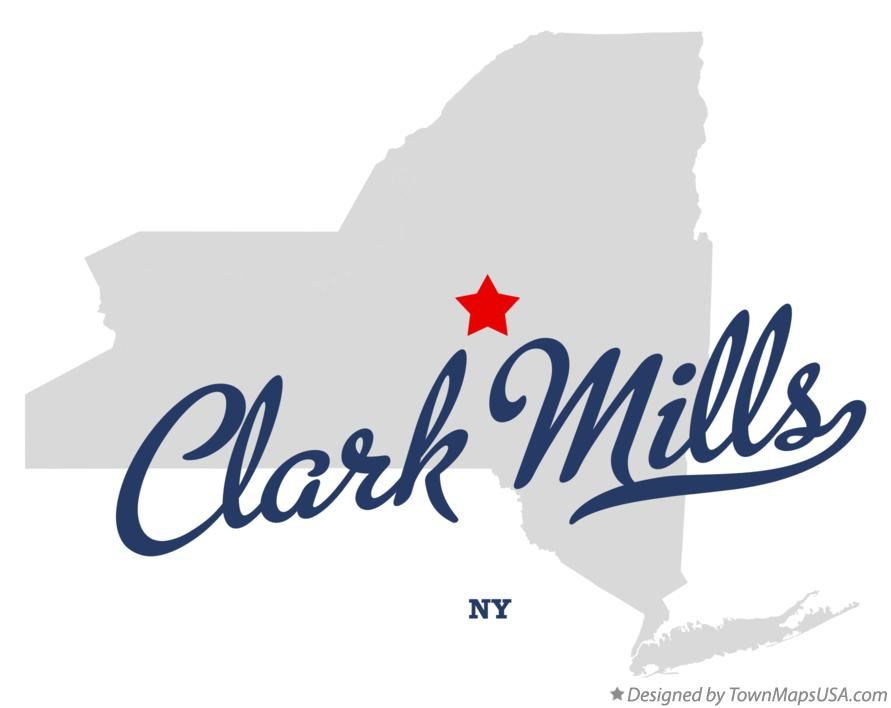 Map of Clark Mills New York NY