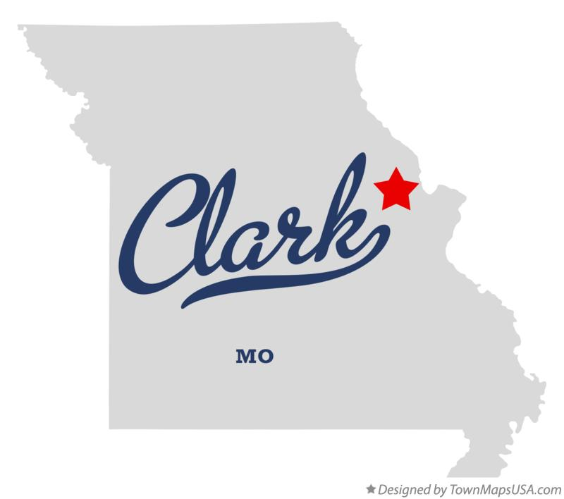 Map of Clark Missouri MO