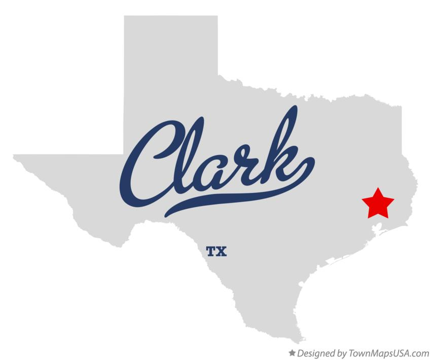 Map of Clark Texas TX