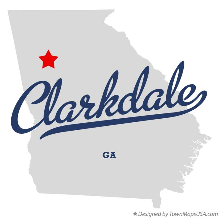 Map of Clarkdale Georgia GA