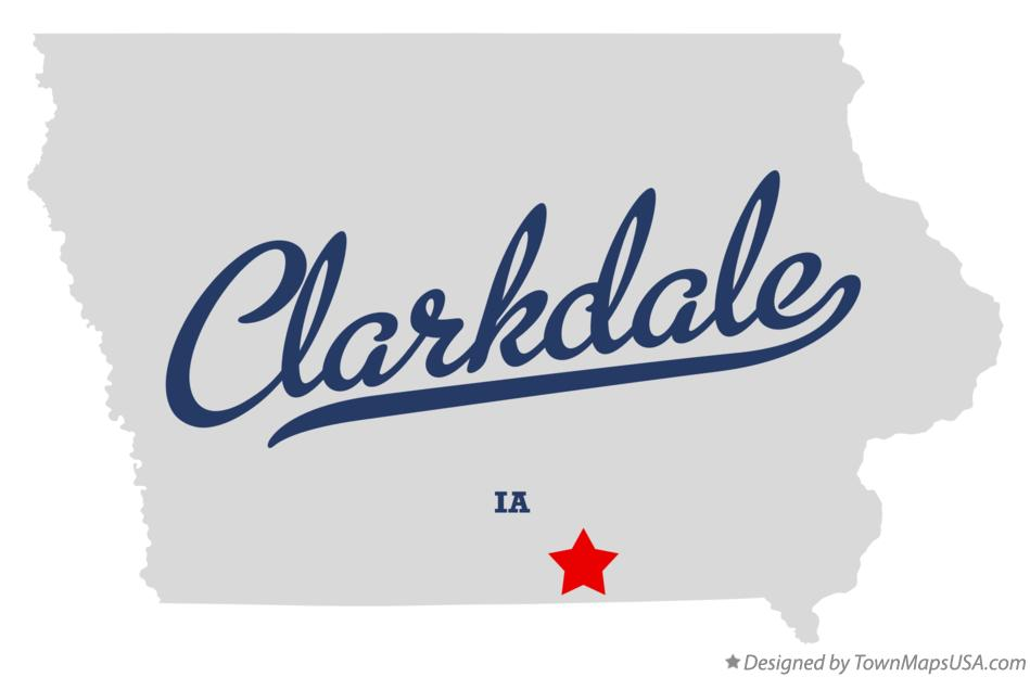Map of Clarkdale Iowa IA