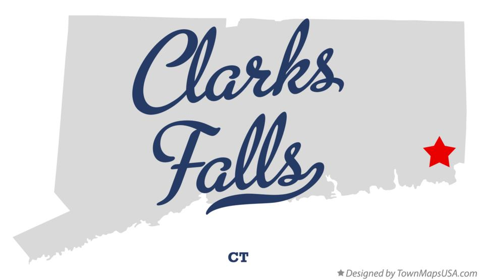 Map of Clarks Falls Connecticut CT