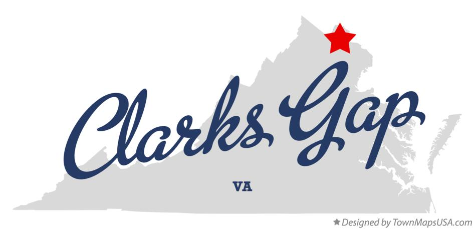 Map of Clarks Gap Virginia VA
