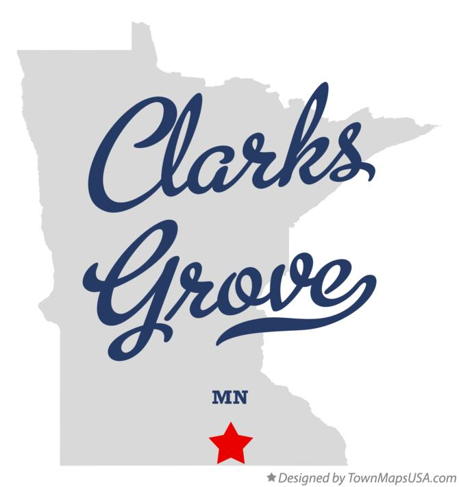 Map of Clarks Grove Minnesota MN