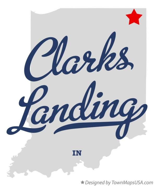 Map of Clarks Landing Indiana IN