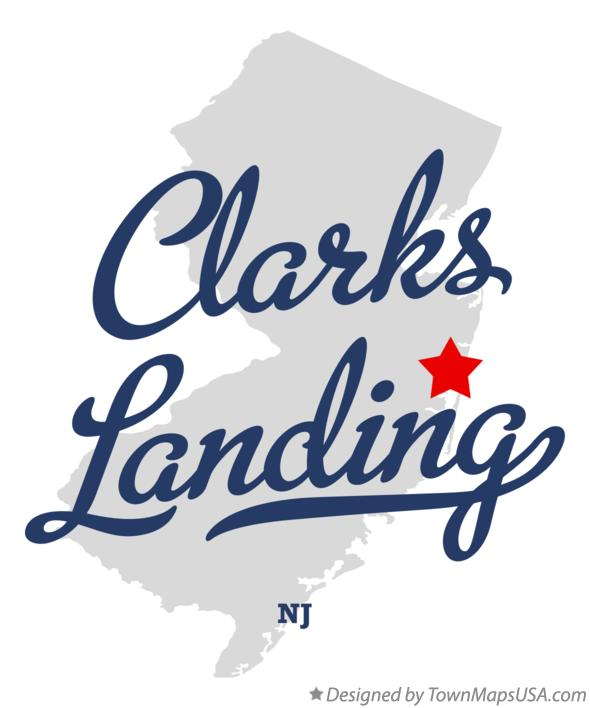 Map of Clarks Landing New Jersey NJ