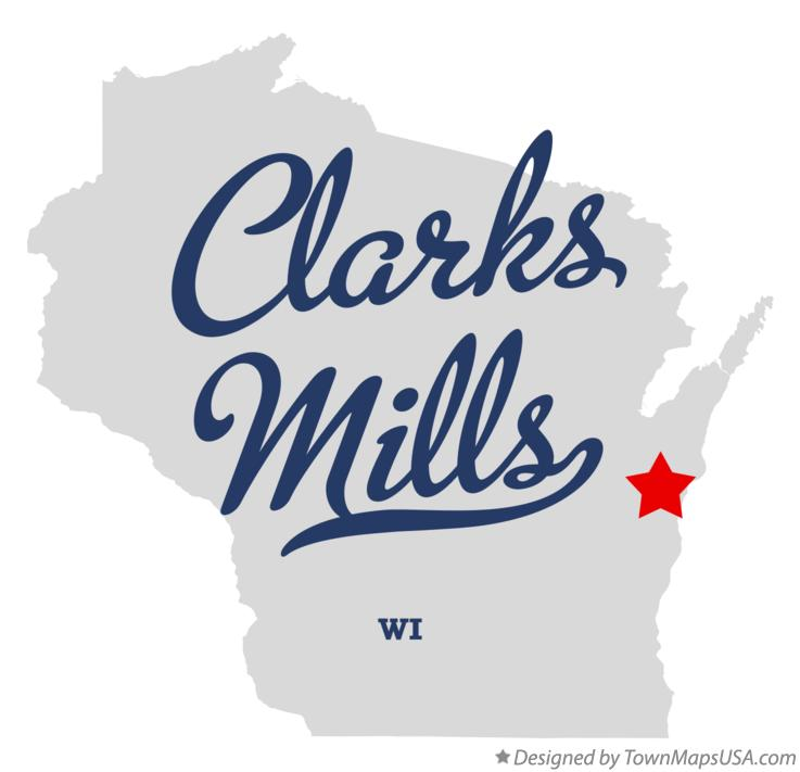Map of Clarks Mills Wisconsin WI