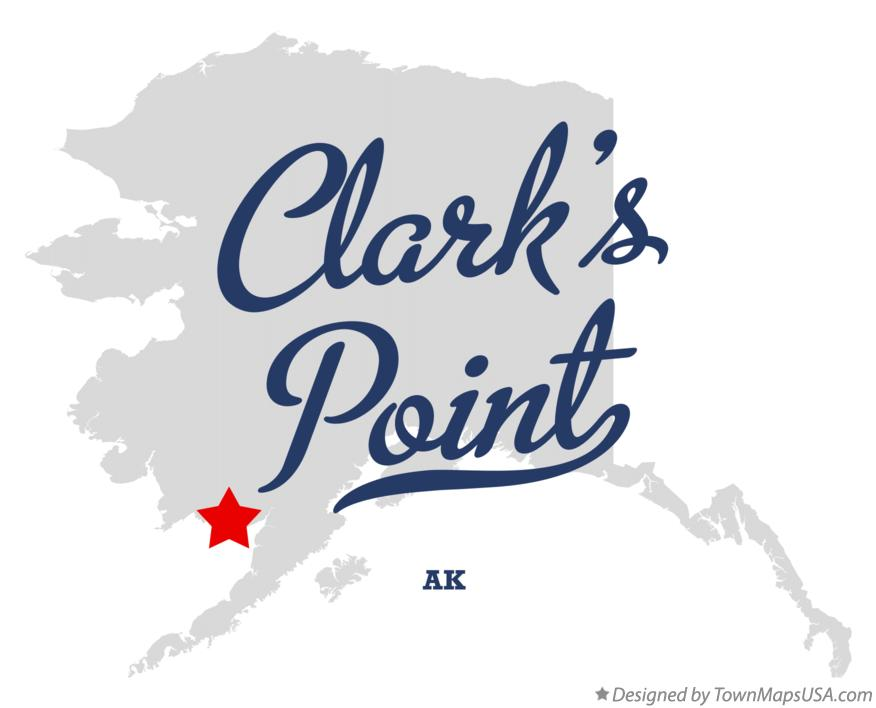 Map of Clark's Point Alaska AK
