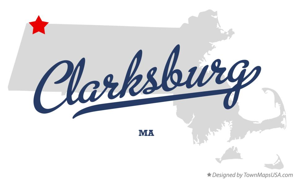 Map of Clarksburg Massachusetts MA