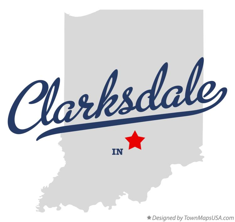 Map of Clarksdale Indiana IN