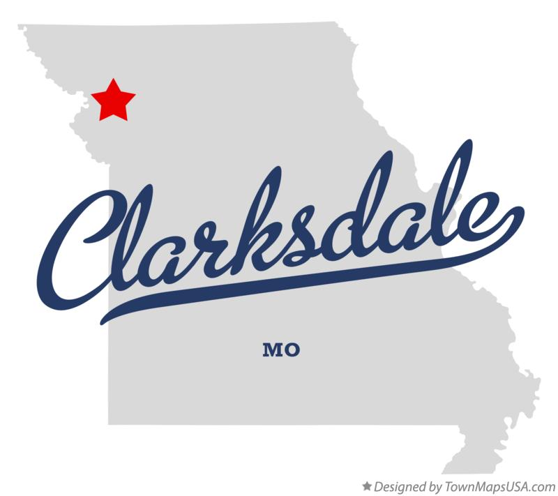 Map of Clarksdale Missouri MO