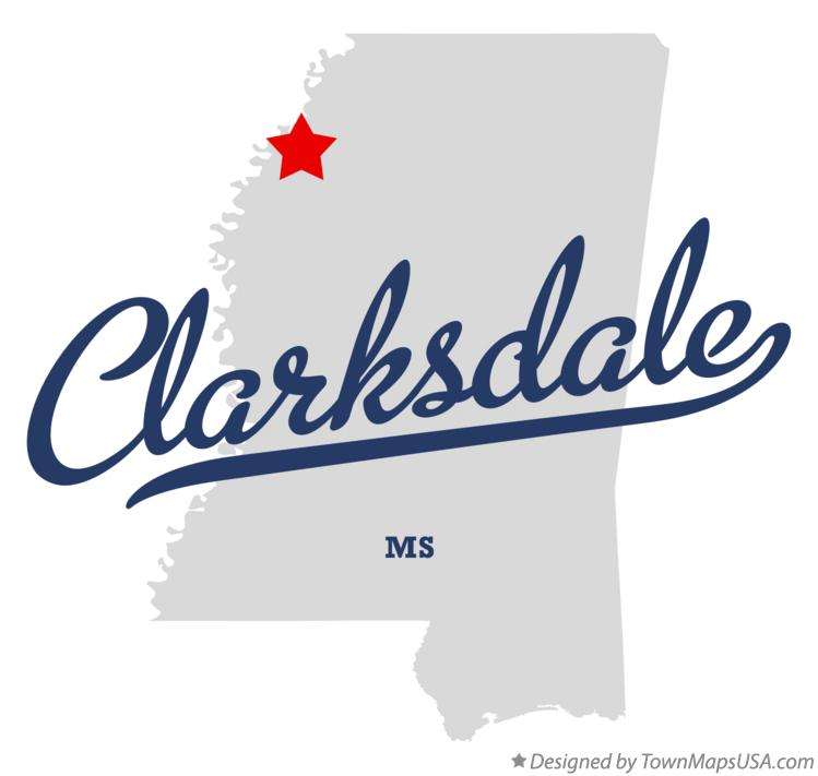 Map Of Clarksdale Mississippi Map of Clarksdale, MS, Mississippi