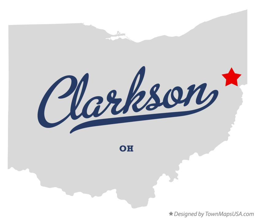 Map of Clarkson Ohio OH