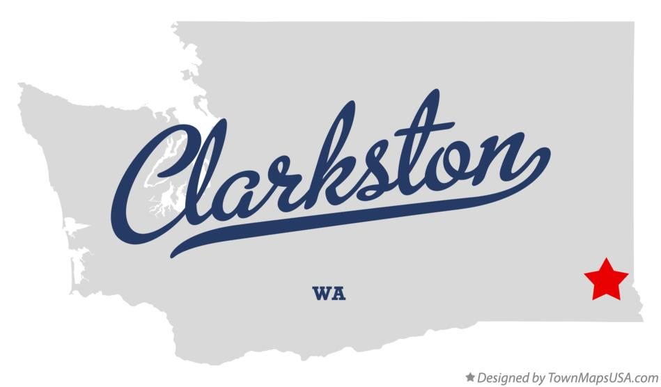 Map of Clarkston Washington WA