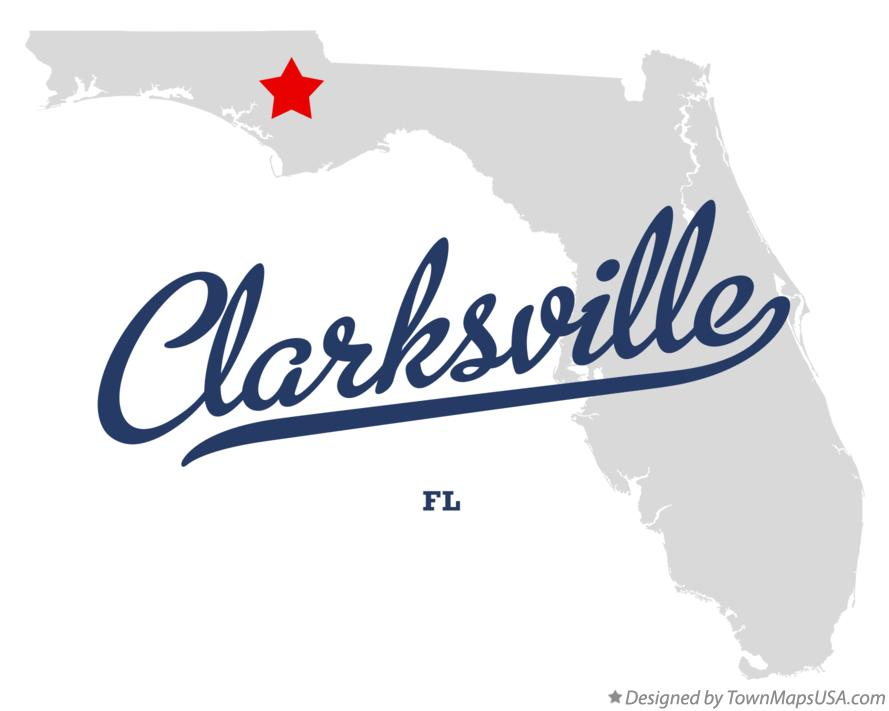 Map of Clarksville Florida FL