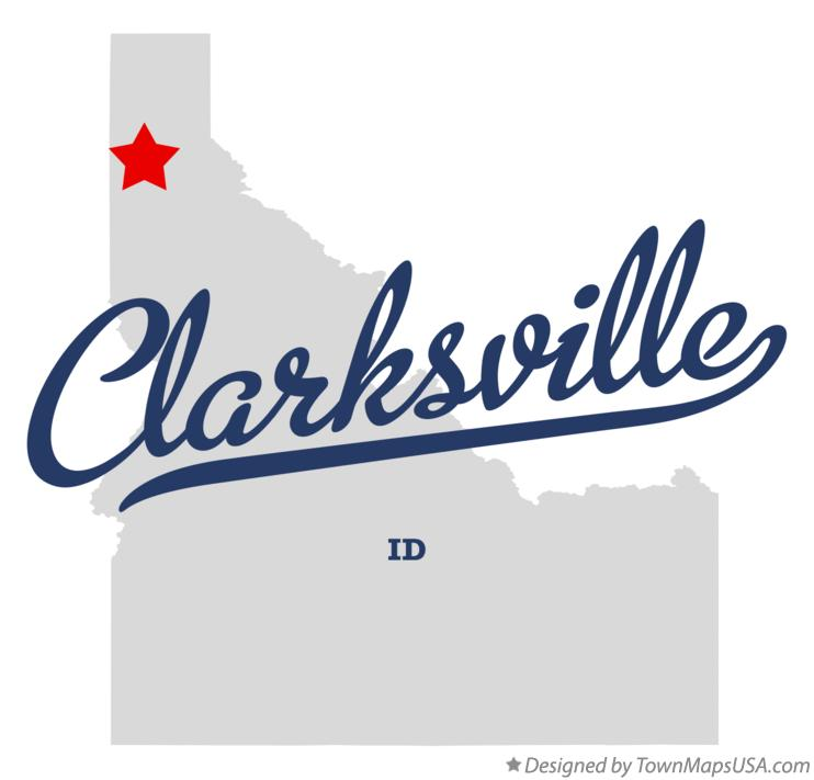 Map of Clarksville Idaho ID