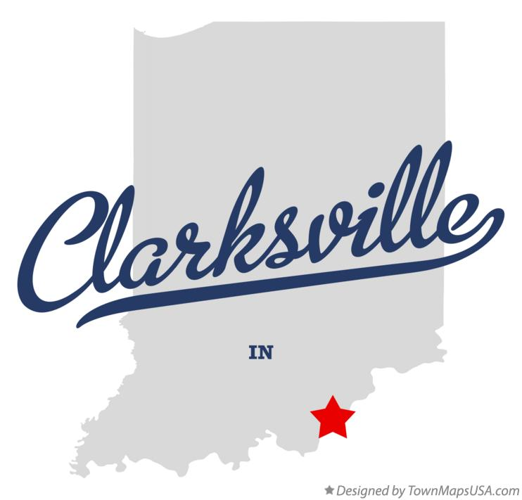 Map of Clarksville Indiana IN