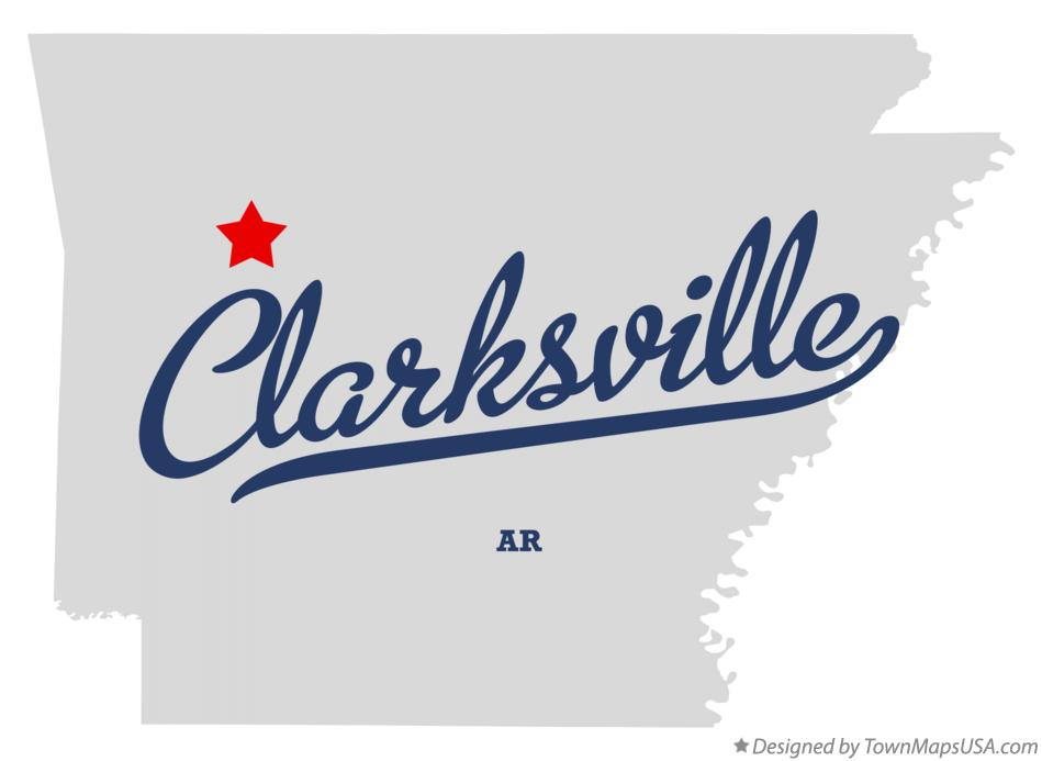 Map of Clarksville Arkansas AR