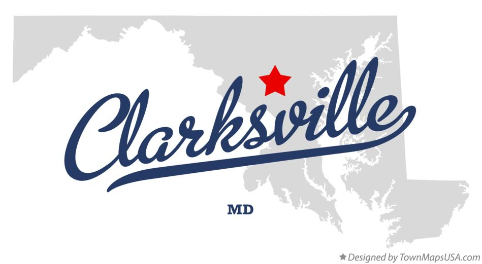 Map of Clarksville Maryland MD