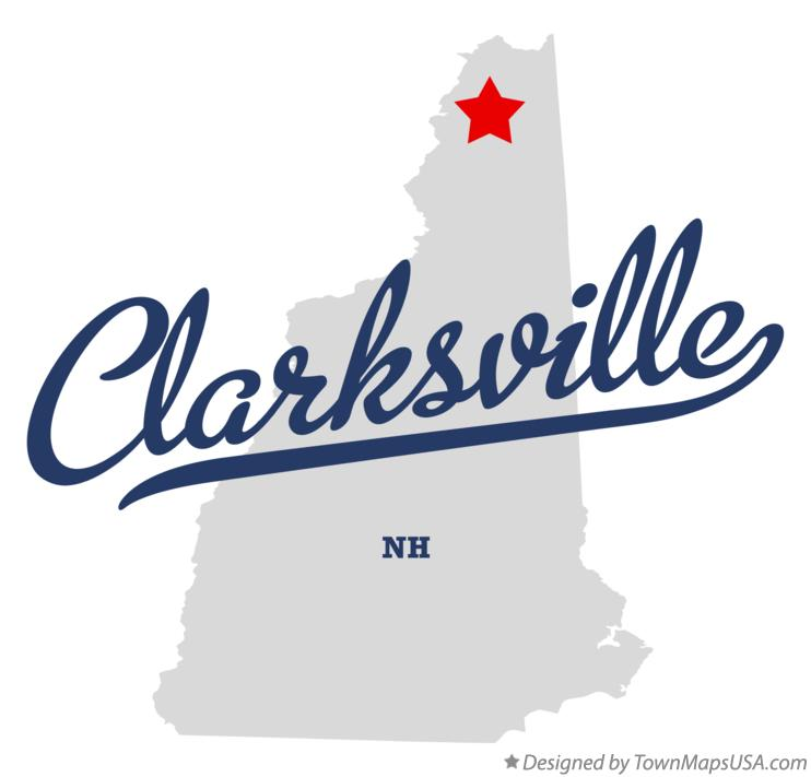 Map of Clarksville New Hampshire NH
