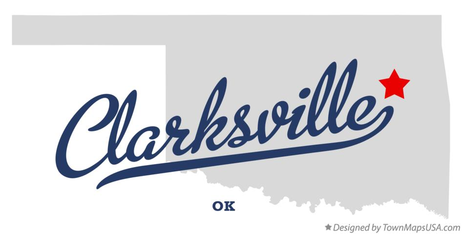 Map of Clarksville Oklahoma OK