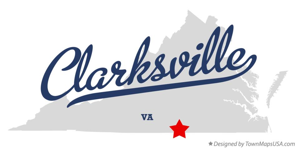 Map of Clarksville Virginia VA