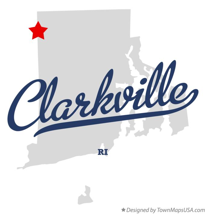 Map of Clarkville Rhode Island RI