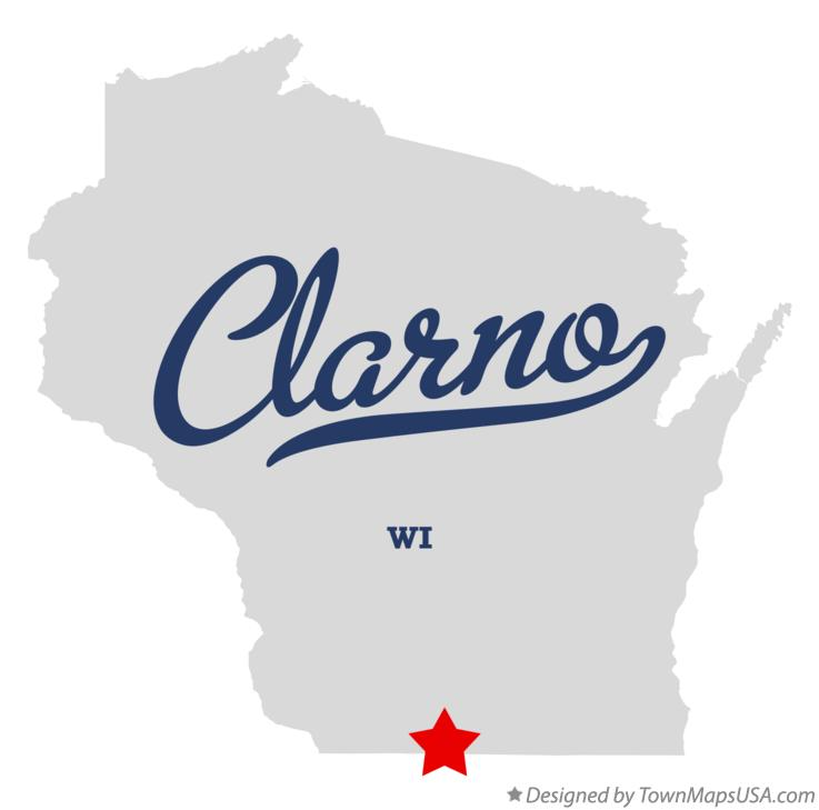 Map of Clarno Wisconsin WI