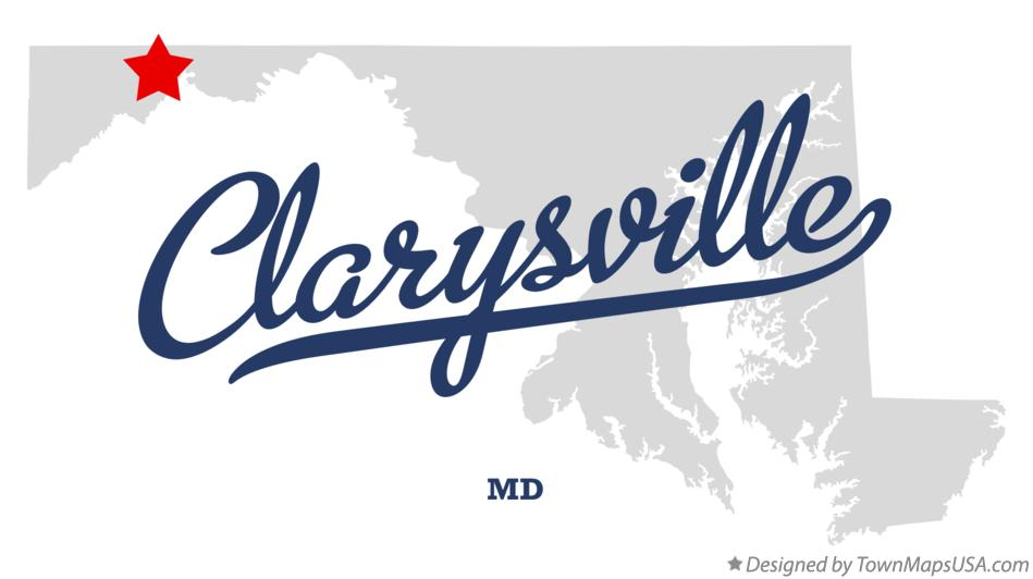 Map of Clarysville Maryland MD