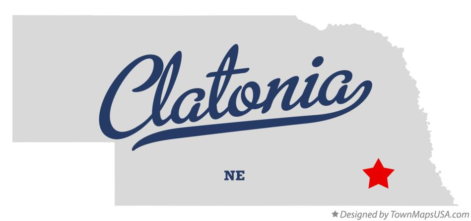 Map of Clatonia Nebraska NE