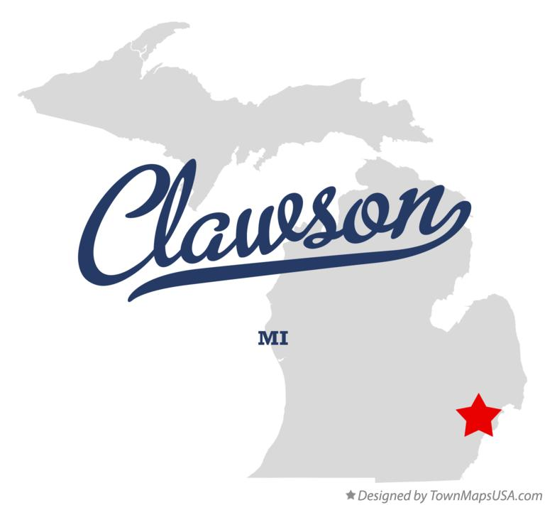 Map of Clawson Michigan MI