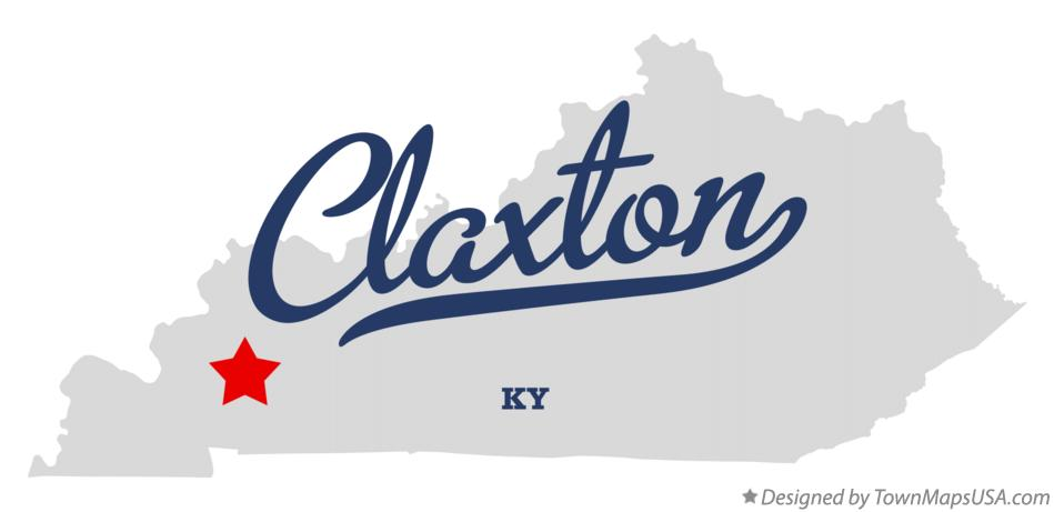 Map of Claxton Kentucky KY