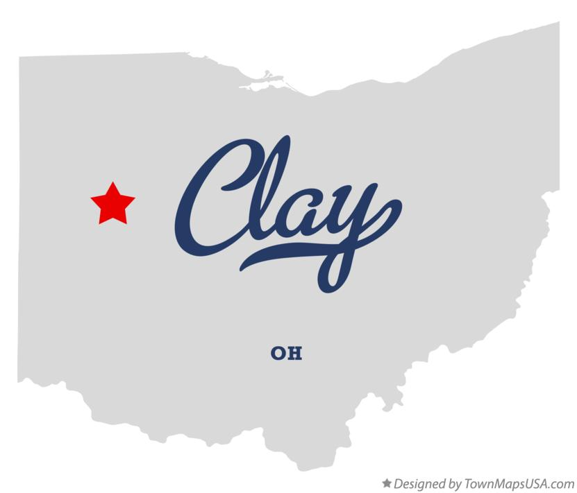 Map of Clay Ohio OH
