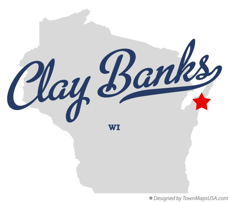 Map of Clay Banks Wisconsin WI