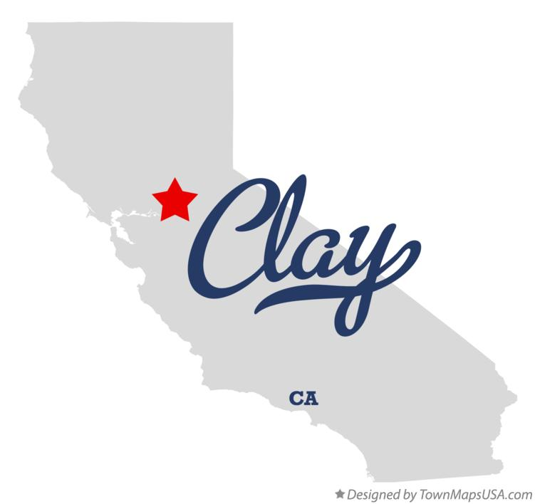 Map of Clay California CA