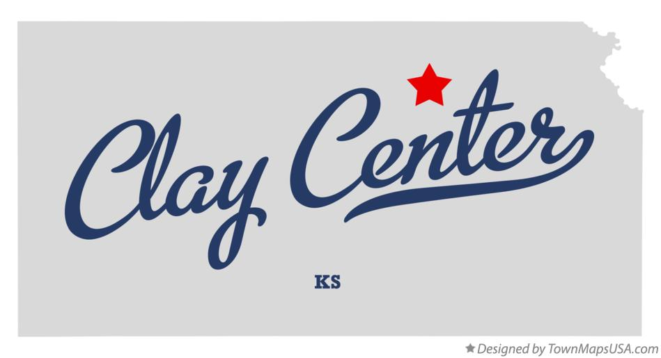 Map of Clay Center Kansas KS