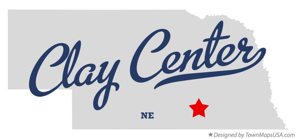 Map of Clay Center Nebraska NE