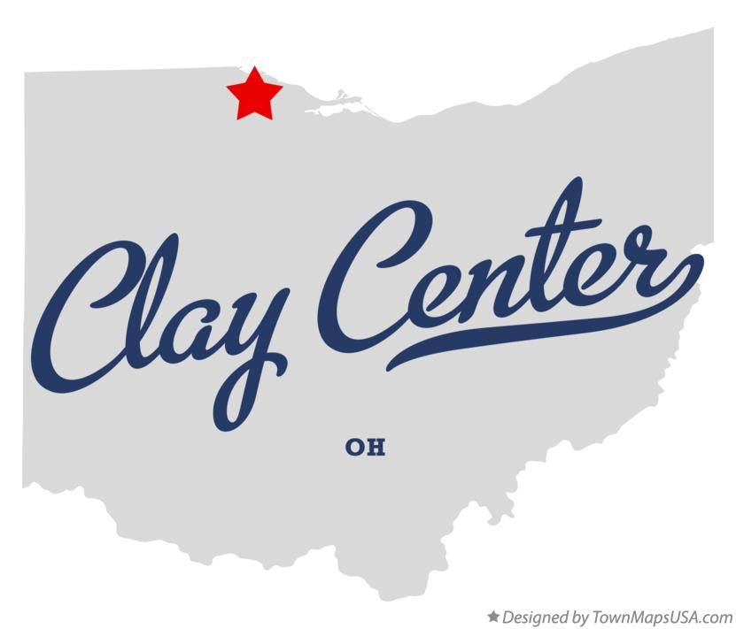 Map of Clay Center Ohio OH