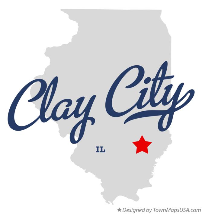 Map of Clay City Illinois IL