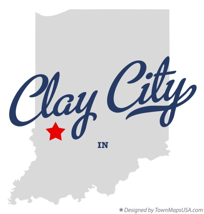 Map of Clay City Indiana IN