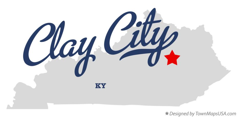 Map of Clay City Kentucky KY