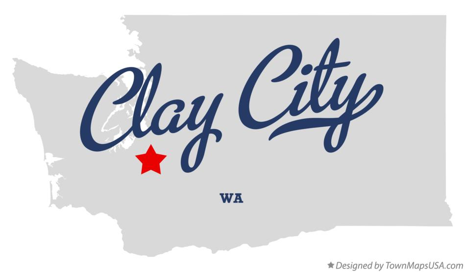 Map of Clay City Washington WA