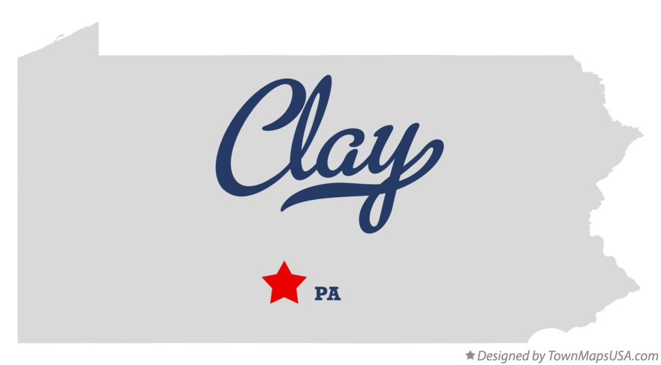 Map of Clay Pennsylvania PA