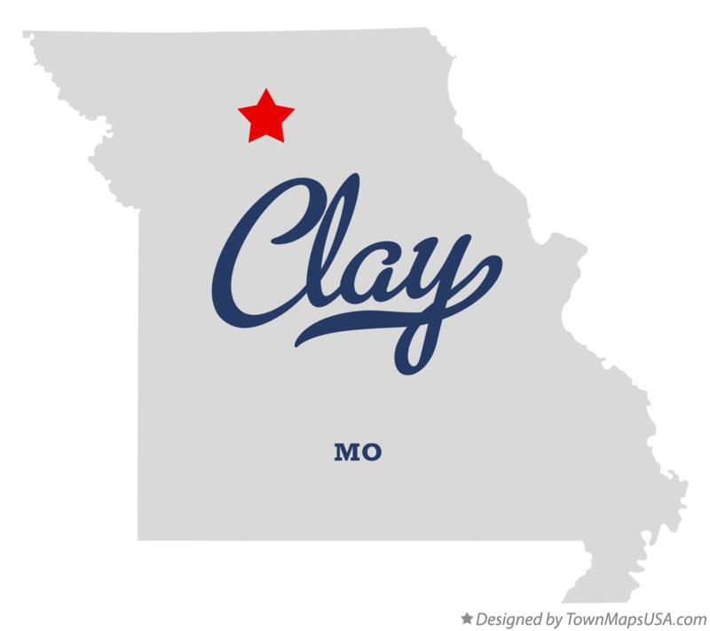 Map of Clay Missouri MO