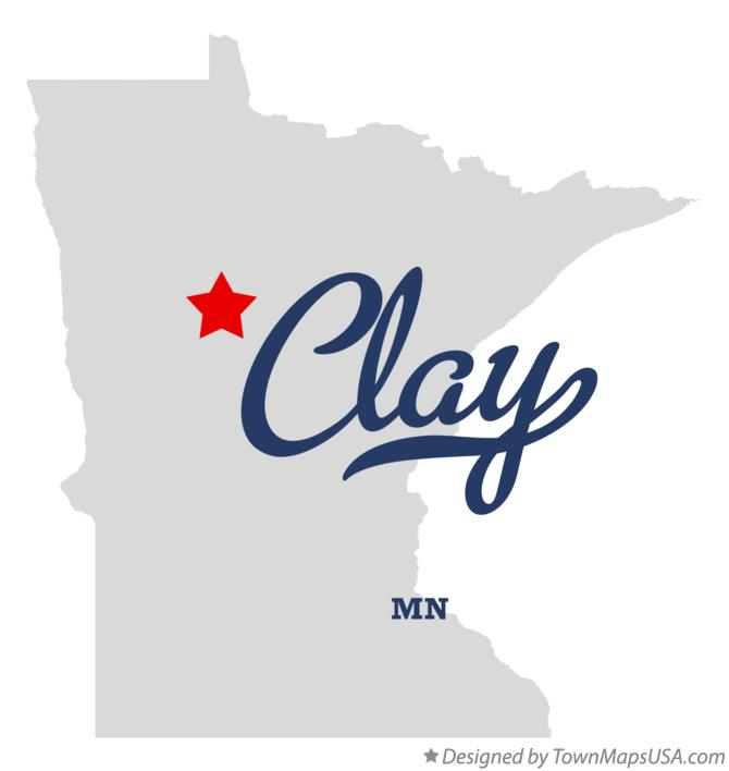 Map of Clay Minnesota MN