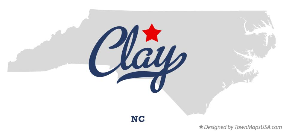 Map of Clay North Carolina NC