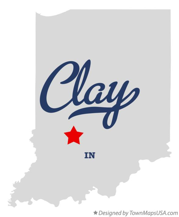 Map of Clay Indiana IN