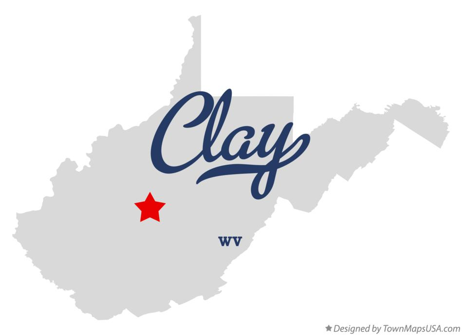 Map of Clay West Virginia WV