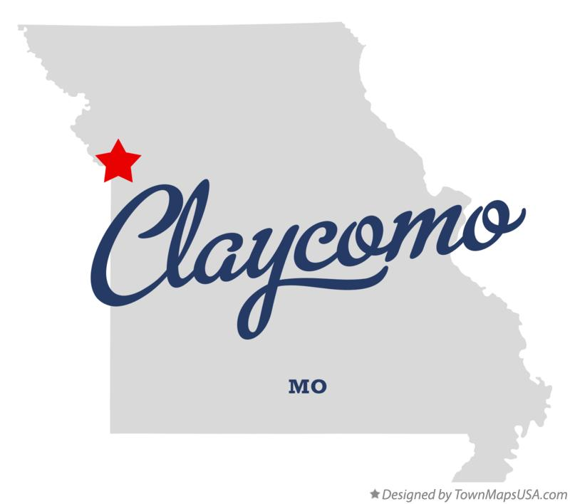 Map of Claycomo Missouri MO