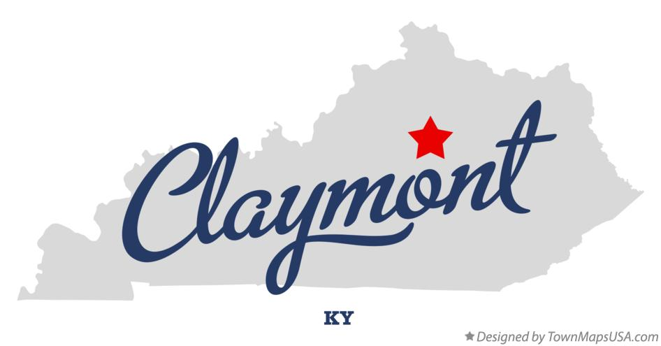 Map of Claymont Kentucky KY